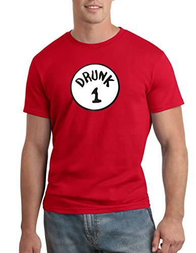 Drunk 1 Halloween Funny Dr. Seuss T-shirt Group Costume Tee