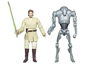 Star Wars 2010 Exclusive Geonosis Arena Showdown Action Figure 2Pack ObiWan Kenobi Super Battle Droid #1 of 6