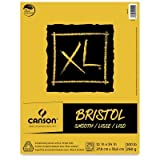 Canson XL Series Bristol Pad, Heavyweight Paper for Ink, Marker or Pencil, Smooth Finish, Fold Over, 100 Pound, 11 x 14 Inch, Bright White, 25 Sheets (Tamaño: 11