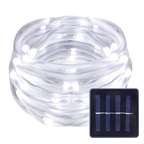le solar power rope lights waterproof daylight white 50 leds