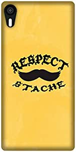 The Racoon Lean Respect The Stache hard plastic printed back case / cover for Lenovo Vibe Shot