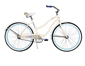 Huffy Bicycle Company Ladies Cruiser Good Vibrations Bike, Gloss Creme, 26-Inch by Huffy