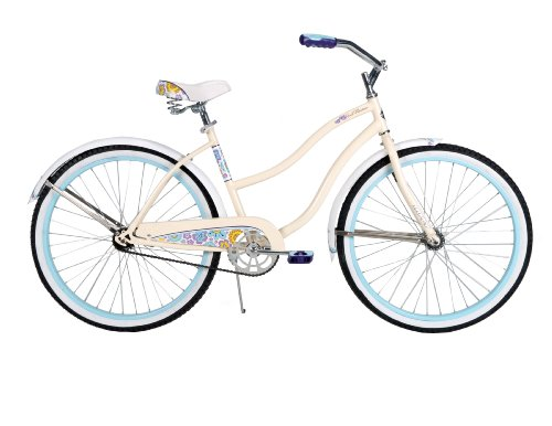 Best Buy! Huffy Bicycle Company Women's Cruiser Good Vibrations Bike, Gloss Creme, 26-Inch