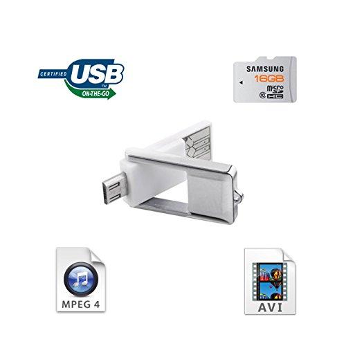 KiwiBird® NEU Micro-USB-OTG-Kartenleser für Samsung Galaxy Alpha/S5/S4/S3/S2, Note 4/3/2/Pro/10.1/8.0 (2014 Edition), die meisten von Galaxy Tab-Serie, LG G2/G1, Nexus 5/7/10, Sony Xperiea Z2/Z1/M2, HTC One M8 ... und andere OTG kompatiblen Geräte + USB 2.0 Micro SD / TF Kartenleser-Adapter für Windows PC, Apple Mac [Support micro SDHC Karte von Kameras / Handys bis zu 32GB]