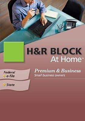 H&R Block At Home 2009 Premium & Business Federal + State + eFile