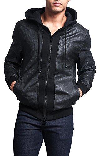 G-Style-USA-PU-Leather-Layered-Hoodie-Jacket