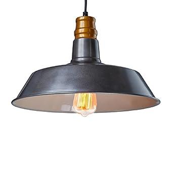 Yobo edison industrie h ngelampe metall schirm retro for Nostalgische lampen