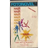 "Hair -  A 1979 original Foto Photo novel Fotonovel ,  published to go along with the movie  -   illustrated with color photographs from the film "" Hair """