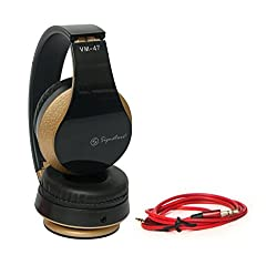 Lenovo Vibe K4 Note Compatible Signature High Quality VM-47 Stereo Bass 3D Sound Headphones For All Smartphones (Black Color)