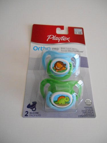 Playtex Ortho-pro Silicone Pacifiers - Animals - 1