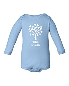 Fat Doxie - Titi's Favorite - Baby/Toddler Long Sleeve Bodysuit 6 Months Navy Blue
