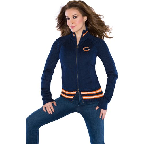 Touch by Alyssa Milano Chicago Bears Women's Sweater Mix Jacket Extra Small at Amazon.com