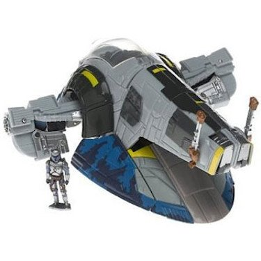 41TbH5BBF%2BL Cheap Buy  Star Wars Saga 06 Transformers Action Figure Jango Fett to Slave 1