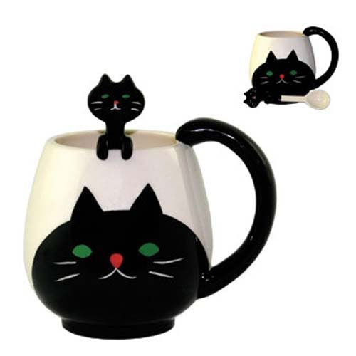 Ceramic Cat and Mug Set