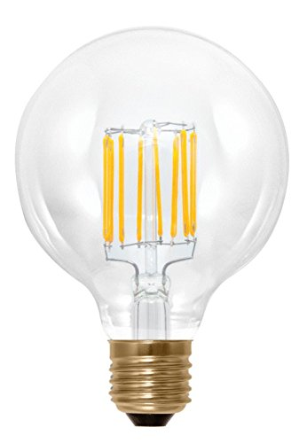 Ag-Eco Retro Filament Led Light Bulb, G95 Clear, 8.3 Watt, Dimmable, Replacement For 60 Watt, 2200K