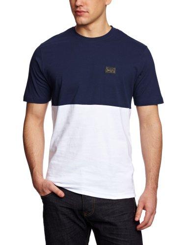 Le Breve 50 50 Logo Men's T-Shirt Navy/White X-Large