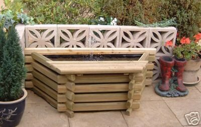 GARDEN POOL FLAT BACK 25 GALLON FISH POND/TANK + PUMP