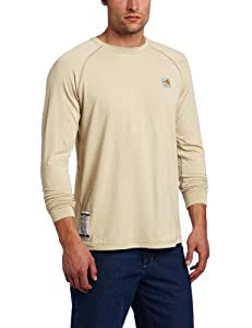 Carhartt Men's Flame Resistant Force Long Sleeve T-Shirt, Sand, XX-Large