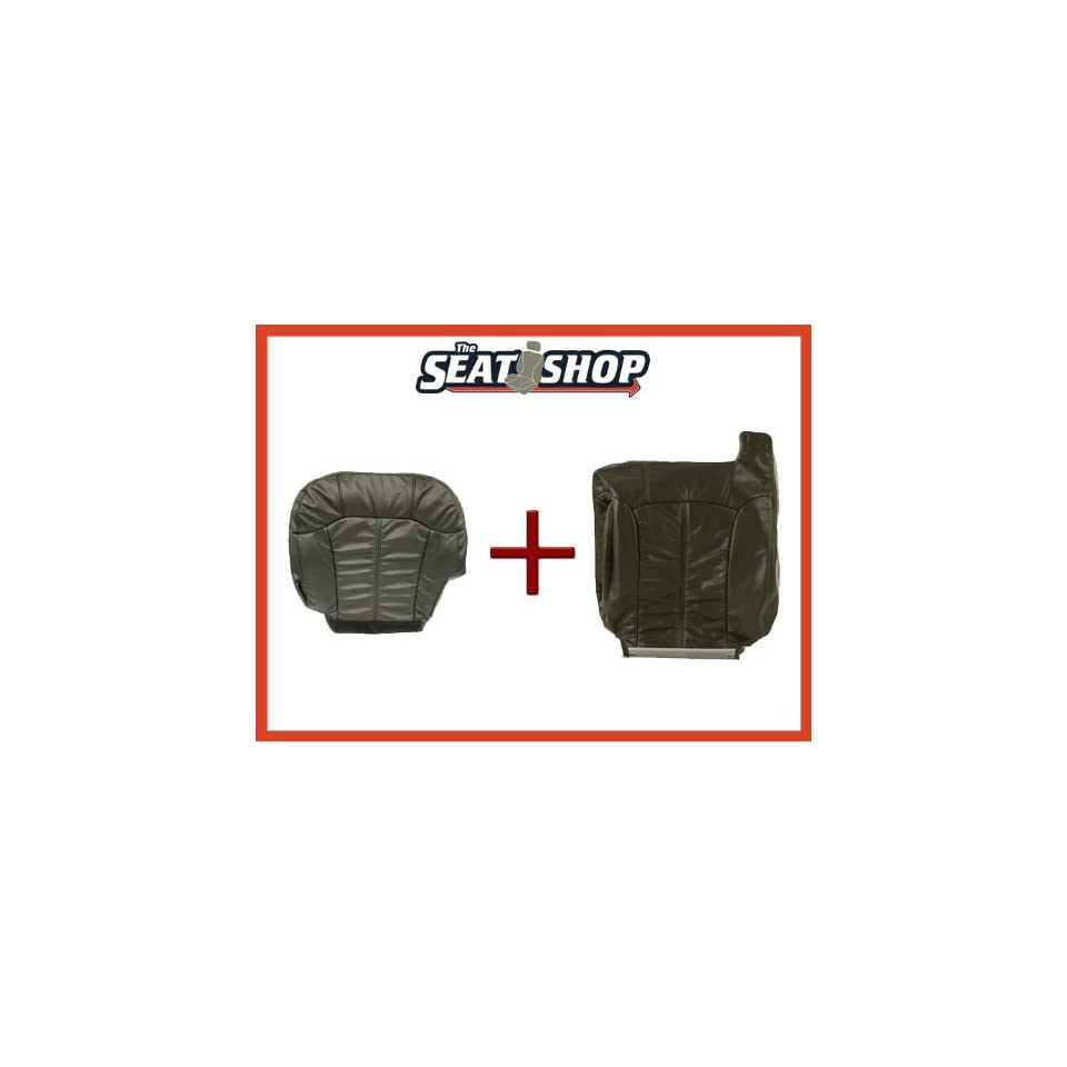 00 01 02 Chevy Silverado Graphite Leather Seat Cover bottom & top LH