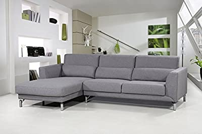 US Pride Furniture Aria Fabric Facing Left Chaise Modern Sectional Sofa Set