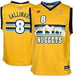 Danilo Gallinari Denver Nuggets Yellow NBA Kids Revolution 30 Replica Jersey by adidas