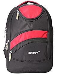 Justcraft Golden Black And Red 25 Liters Backpack