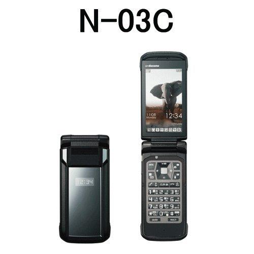 新品(未使用品) docomo PRIMEシリーズ N-03C ブラック 白ロム 標準セット品
