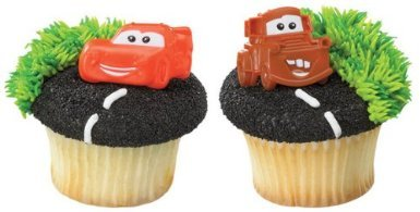 Disney Cars Mater and McQueen Cupcake Rings - 12 ct