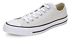 Converse Unisex Off White Canvas Sneakers - 10 UK
