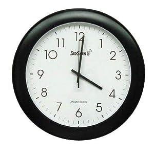 skyscan 14 analog atomic wall clock radio alarm clocks. Black Bedroom Furniture Sets. Home Design Ideas