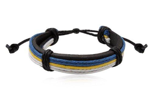 Fashion Multicolour Leather Wrap Cuff Bracelet Bangle Men's Jewelry
