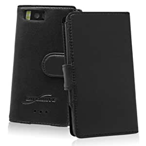 BoxWave Droid X Designio Leather Case - Premium Grade 100% Genuine Leather Wallet Style Flip Cover Case - Droid X Cases and Covers (Horizontal Flip Cover)