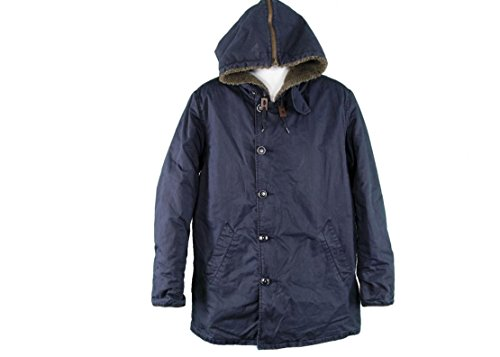 J Crew Wallace and Barnes Parka Size Medium M Navy Jacket Coat New