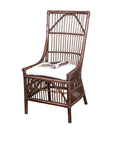 Jeffan Winston Rattan Dining Side Chair, US Antique