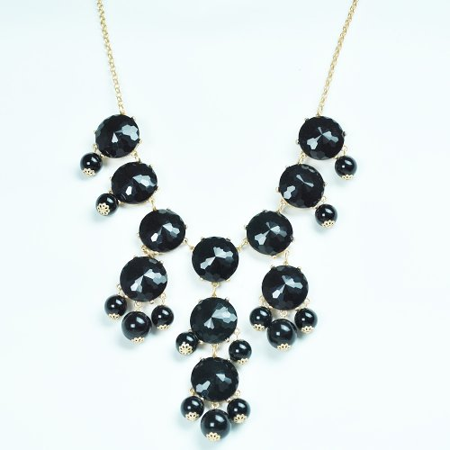 Bubble Necklace,Statement Necklace, Bubble Jewelry(Fn0508-Bl