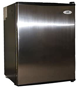 SPT 2.5 cu.ft Compact Refrigerator Stainless Door with Black Sides