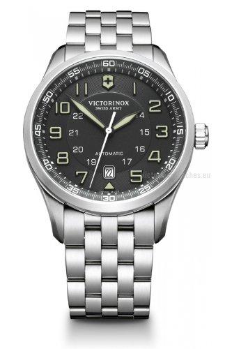 Victorinox 241508 - Reloj para hombres, correa de acero inoxidable color plateado