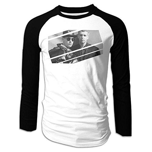 Pet Shop Boys A Life In Pop Men Crew Neck Raglan Baseball T Shirts Black