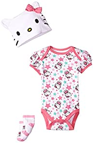 Hello Kitty Baby-Girls Newborn 3 Piec…