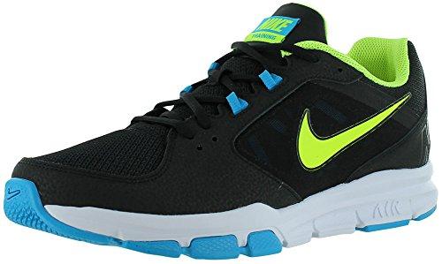 Nike Men'S Air Velocitrainer Running Shoes-Black/Volt-Current Blue-12