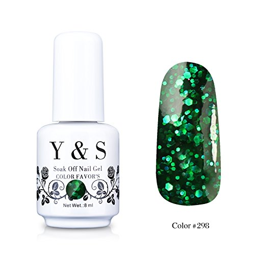 Yaoshun-Gelpolish-Gel-Nail-Polish-Glitter-Dark-Forest-Green-UV-LED-Nail-ArtBeauty-Care-8ml-298