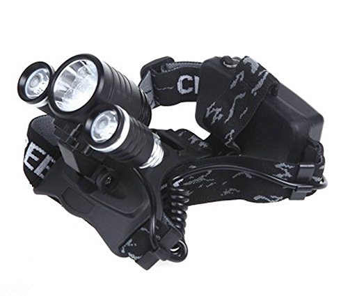3000Lm 1X T6 & 2X R2 Led Rechargeable Headlamp Headlight + Ac Charger