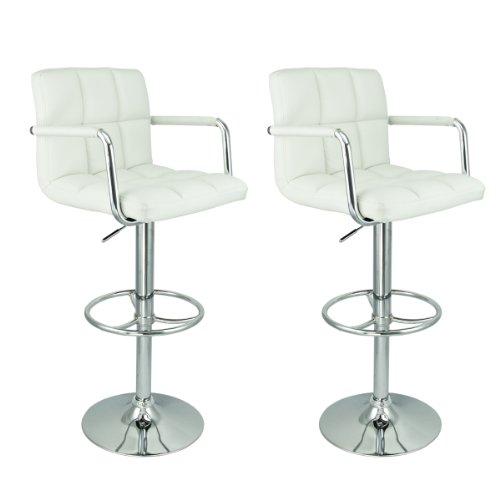 Hot Style Lot 2 PU Leather Hydraulic Swivel Pub Chair Barstool Black//White NEW