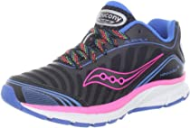 Saucony Girls Kinvara Running Shoe (Little Kid/Big Kid),Black/Pink/White,7 M US Big Kid