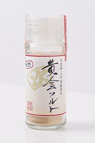無添加 粉末しょうゆ 「黄金ソルト」 魚と醤油の旨味・コクが凝縮された天然醤油パウダー 20g ビン