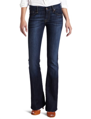 7 For All Mankind Women's Petite A Pocket Short Inseam Jean, Nouveau New York Dark, 31