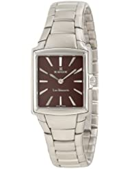 Edox Men's 28126 3 BRIN Les Bemonts Rectangular Ultra Slim Watch