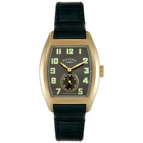 Rotary Men's GS02405/35 Black Leather Watch