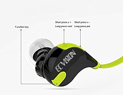 ECVISION Mini Lightweight Wireless Stereo Bluetooth V4.1 Earbuds Headphones W/microphone Sports/running & Gym/exercise Headsets for Iphone 5s 5c 4s 4, Ipad 2 3 4 New Ipad, Ipod, Android, Samsung Galaxy, Smart Phones Bluetooth Devices (Green)