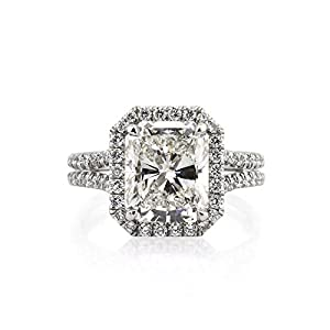 Mark Broumand 5.15ct Radiant Cut Diamond Engagement Ring